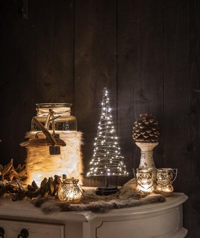 Santa Tree warm-wit L 42 cm hoog 85 LED