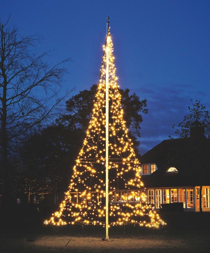 Fairybell 4000 LED kerstboom voor in een 10-12 meter vlaggenmast