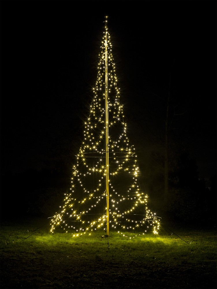 Fairybell 600 LED kerstboom voor in een 6 of 7 meter vlaggenmast
