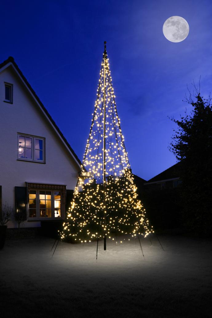 Fairybell vlaggenmast kerstverlichting 600 cm 1200 led twinkel