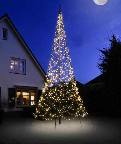 Fairybell vlaggenmast kerstverlichting 600 cm 1200 led
