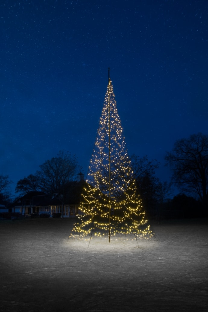Fairybell vlaggenmast kerstverlichting 800 cm 1500 led