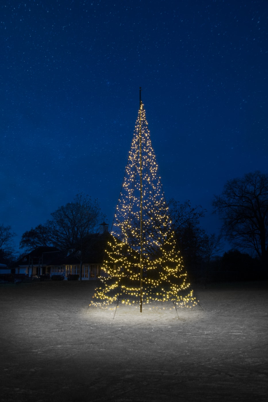 Fairybell 800 Cm 1500 Led Warm Wit Vlaggenmast Kerstverlichting
