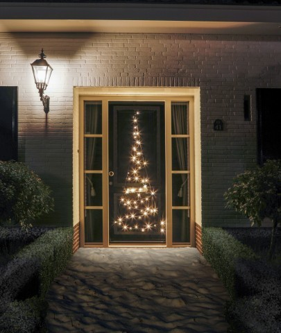 Fairybell deurkerstboom 210 cm 60 led warm wit