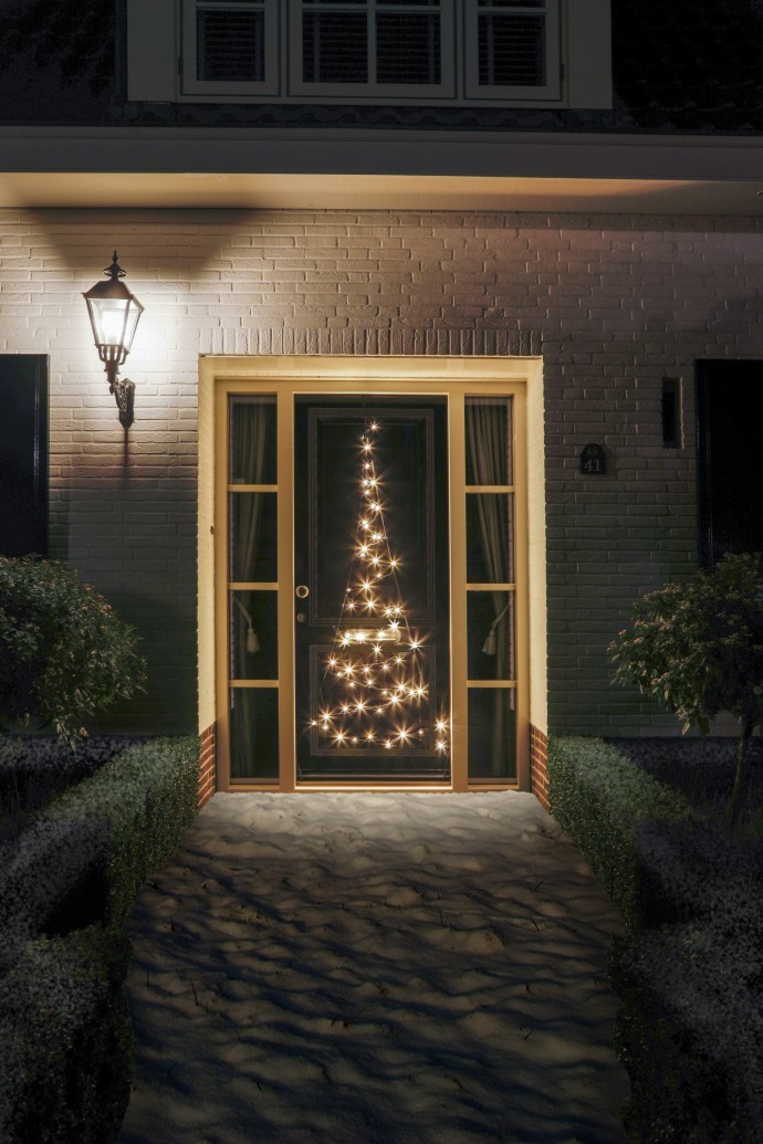Fairybell deurkerstboom 210 cm 60 led warm wit